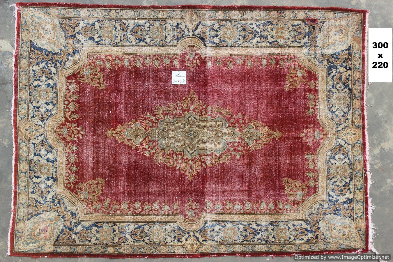 Vintage recoloured perzisch tapijt 02B (300cm x 220cm)
