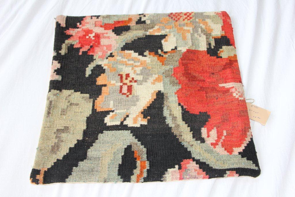 Kelim kussen E021 ( 45cm x 45cm) gemaakt van authentieke rozenkelim.