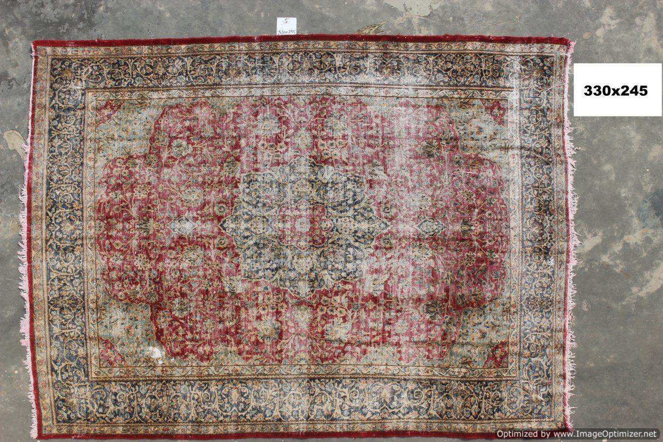 Vintage recoloured perzisch tapijt 05B   (330cm x 245cm)