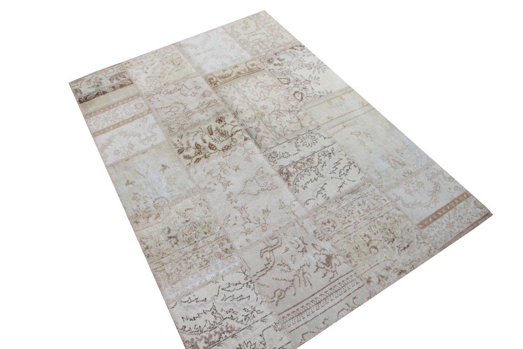 Zandkleur patchwork vloerkleed 240cmx170cm, no 1005