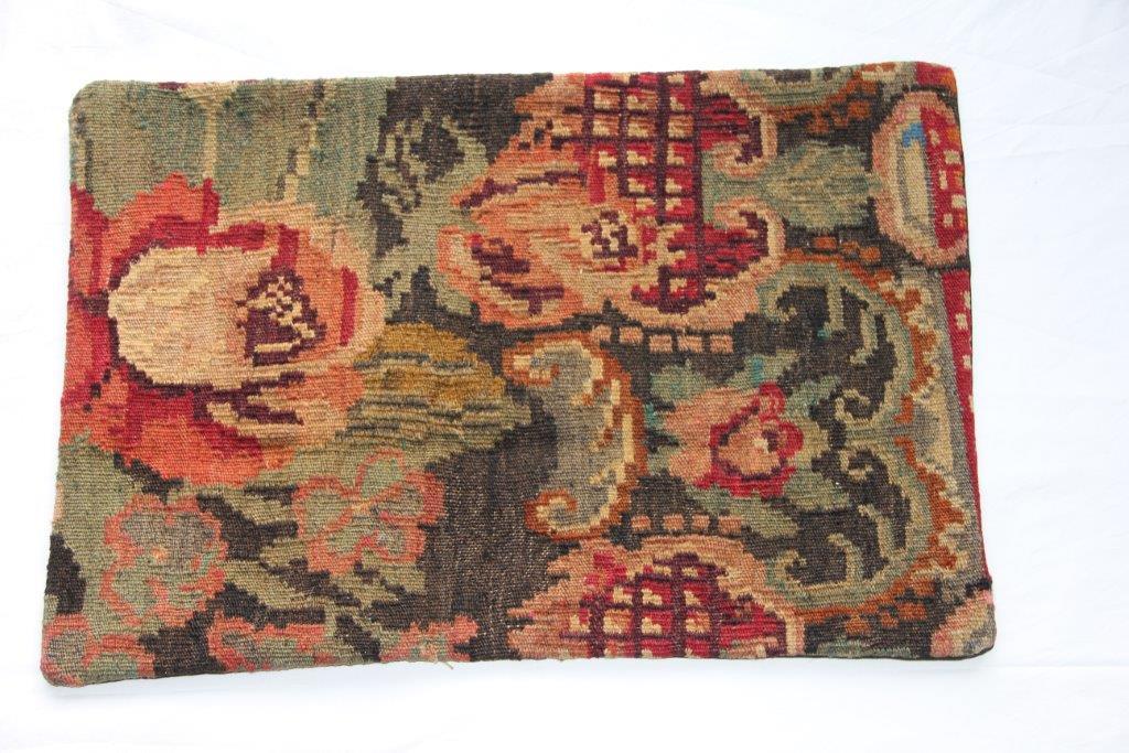 Kelim kussen  60cm x 40cm, handgeweven uit Moldavië, no 101 wordt geleverd incl. binnenkussen