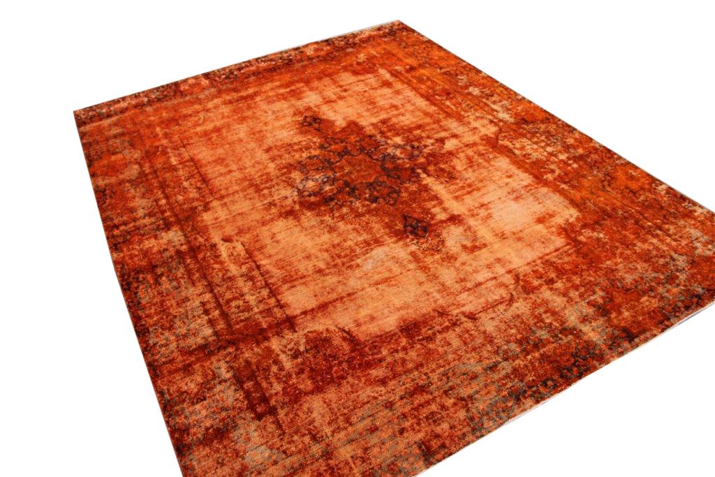 Perzisch tapijt nr 102 (355cm x 278cm) tapijt wat een nieuwe hippe trendy kleur heeft gekregen.
