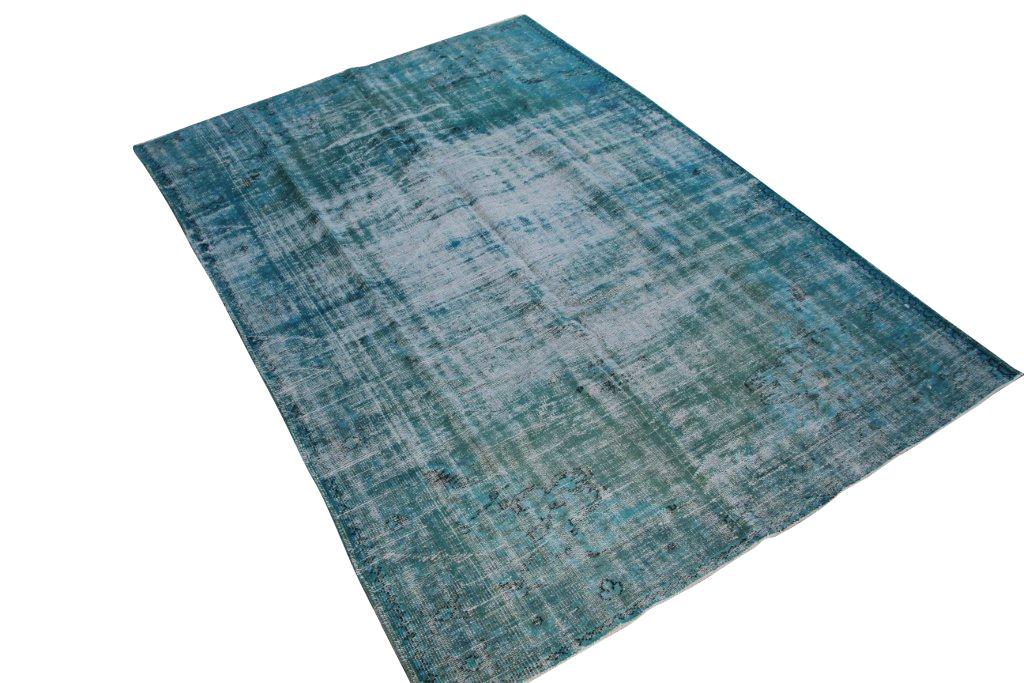 Turquoise vloerkleed no 1043D (280cm x 190cm) tapijt wat een nieuwe hippe trendy kleur heeft gekregen.