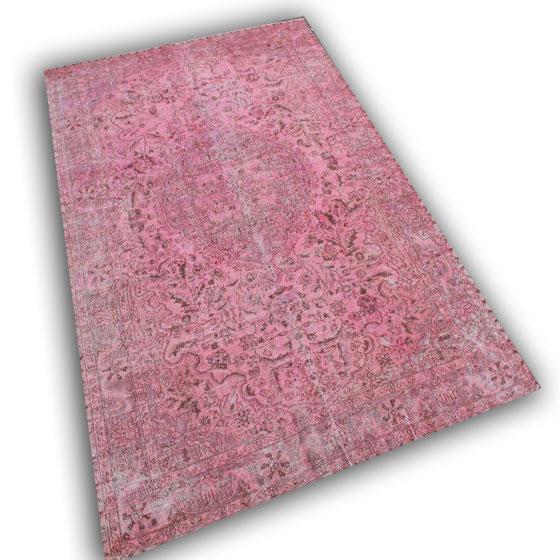 Oud roze vloerkleed 10490 (288cm x 200cm)
