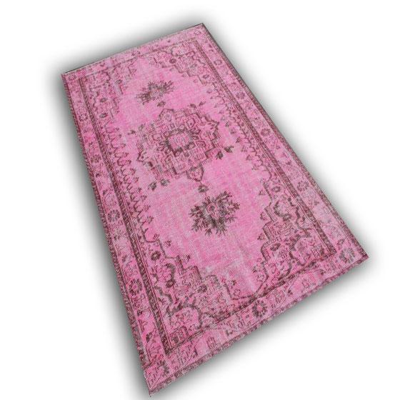 Roze vintage vloerkleed gereserveerd 10572 (287cm x 172cm)