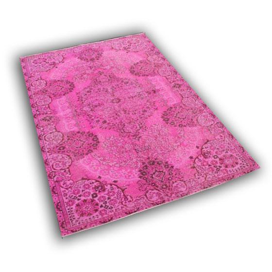 Roze vloerkleed 10758 (261cmx 177cm)
