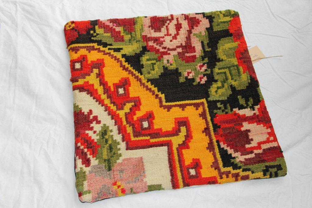 Kelim kussen  45cm x 45cm, handgeweven uit Moldavië, no 1102 wordt geleverd incl. binnenkussen