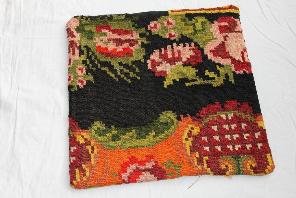 Kelim kussen  45cm x 45cm, handgeweven uit Moldavië, no 1123 wordt geleverd incl. binnenkussen