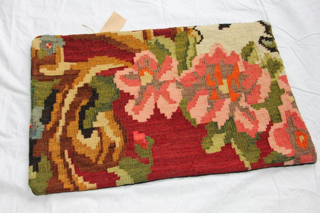 Kelim kussen  60cm x 40cm, handgeweven uit Moldavië, no 1150 wordt geleverd incl. binnenkussen