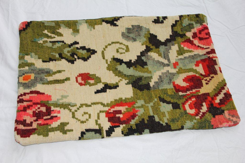 Kelim kussen  60cm x 40cm, handgeweven uit Moldavië, no 1151 wordt geleverd incl. binnenkussen