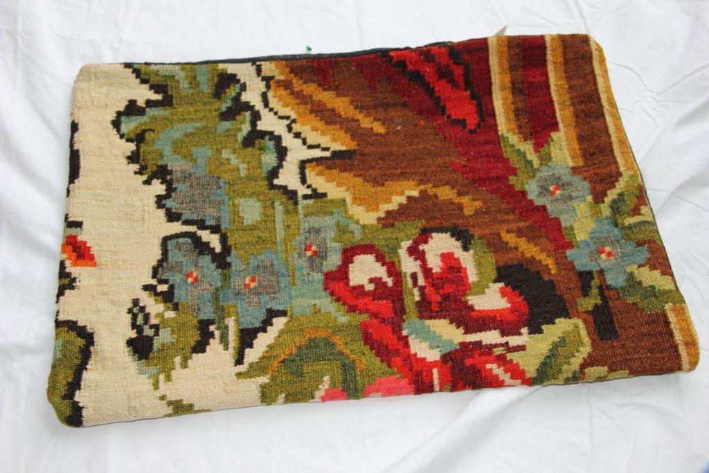 Kelim kussen  60cm x 40cm, handgeweven uit Moldavië, no 1152 wordt geleverd incl. binnenkussen