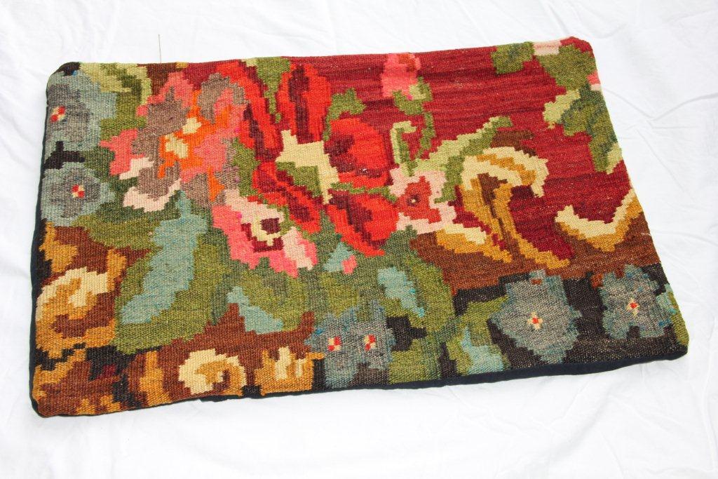 Kelim kussen  60cm x 40cm, handgeweven uit Moldavië, no 1161 wordt geleverd incl. binnenkussen