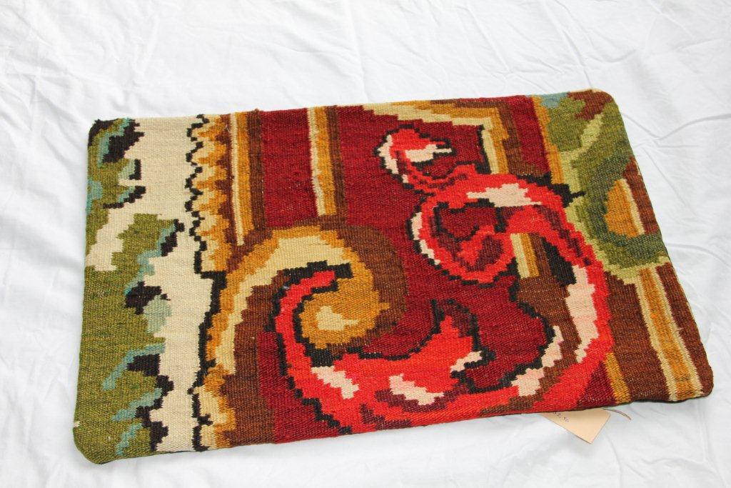 Kelim kussen  60cm x 40cm, handgeweven uit Moldavië, no 1162 wordt geleverd incl. binnenkussen