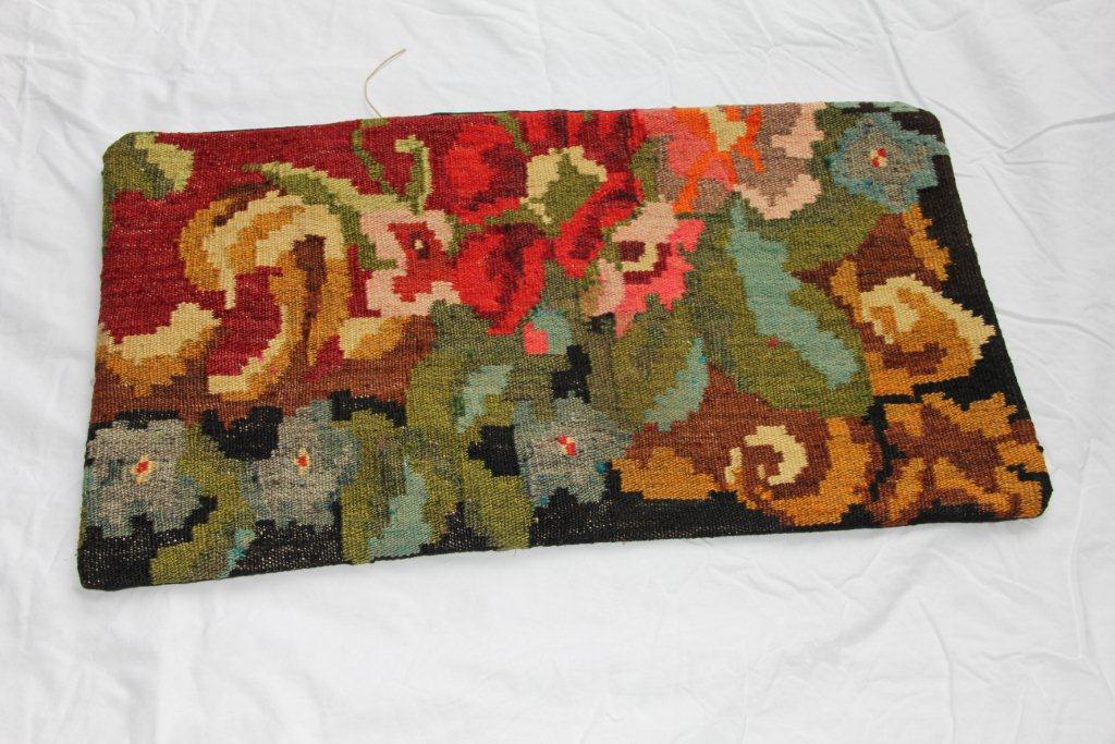 Kelim kussen  60cm x 40cm, handgeweven uit Moldavië, no 1164 wordt geleverd incl. binnenkussen