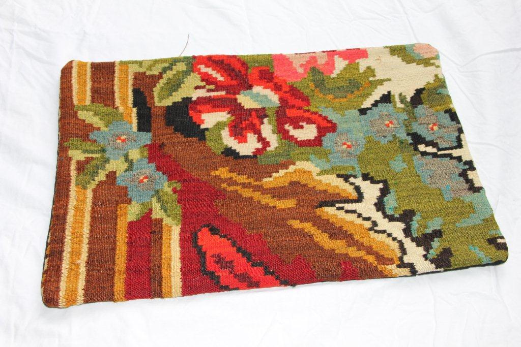 Kelim kussen  60cm x 40cm, handgeweven uit Moldavië, no 1165 wordt geleverd incl. binnenkussen
