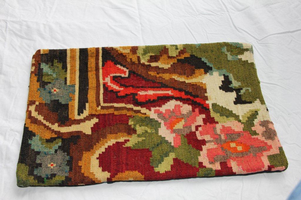 Kelim kussen  60cm x 40cm, handgeweven uit Moldavië, no 1173 wordt geleverd incl. binnenkussen