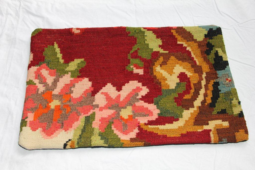 Kelim kussen  60cm x 40cm, handgeweven uit Moldavië, no 1178 wordt geleverd incl. binnenkussen