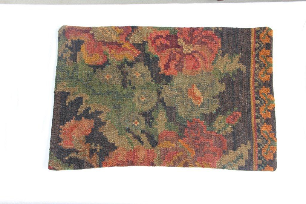 Rozenkelim kussen nr 12005 (60cm x 40cm) Kussen gemaakt van authentieke rozenkelim, inclusief binnenkussen