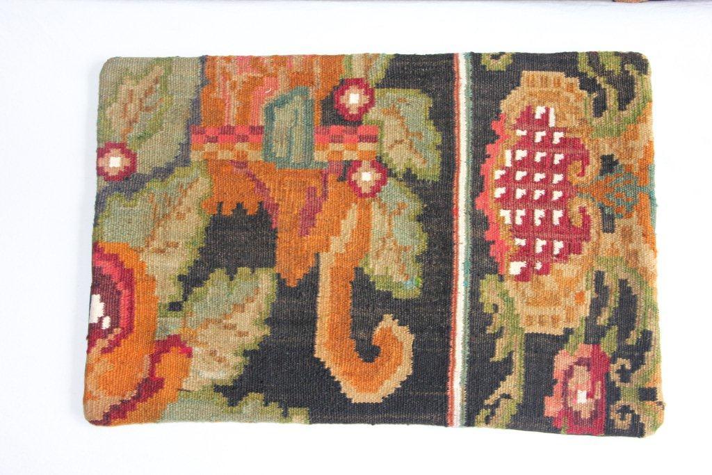 Rozenkelim kussen nr 12007 (60cm x 40cm) Kussen gemaakt van authentieke rozenkelim, inclusief binnenkussen