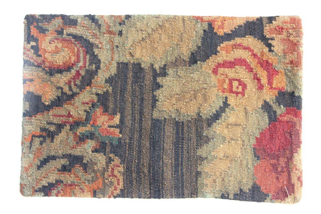Rozenkelim kussen nr 12025 (60cm x 40cm) Kussen gemaakt van authentieke rozenkelim, inclusief binnenkussen