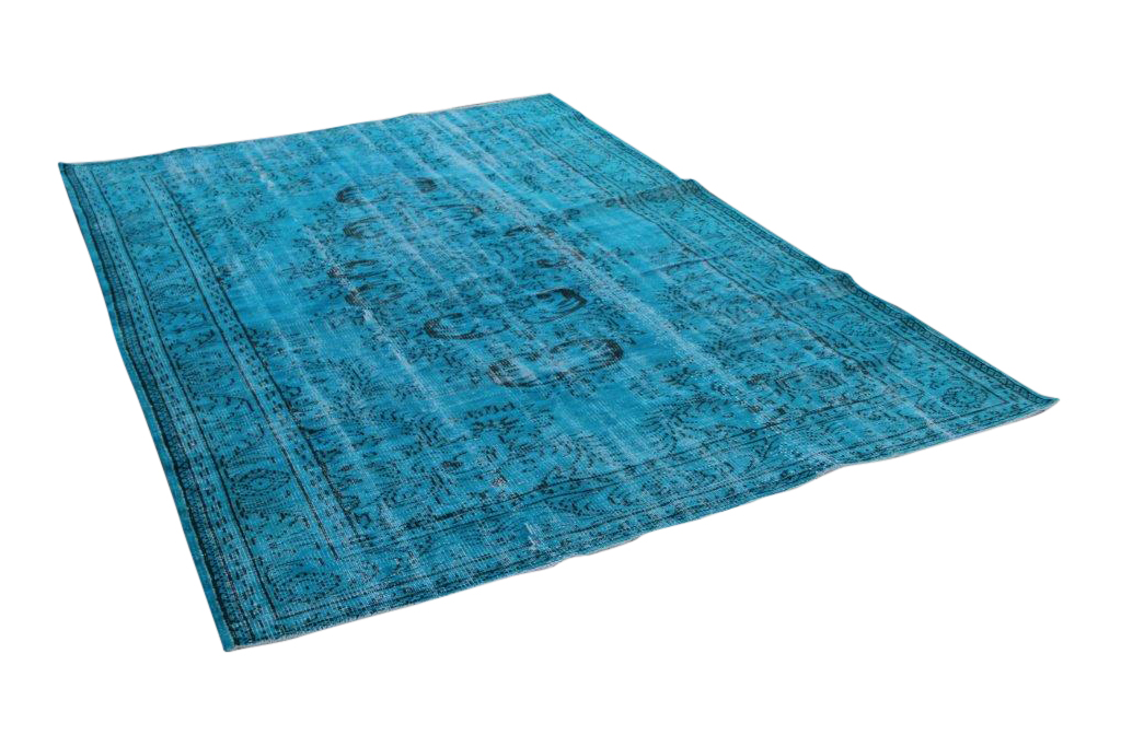 Vintage vloerkleed, blauw 286cm x 194cm