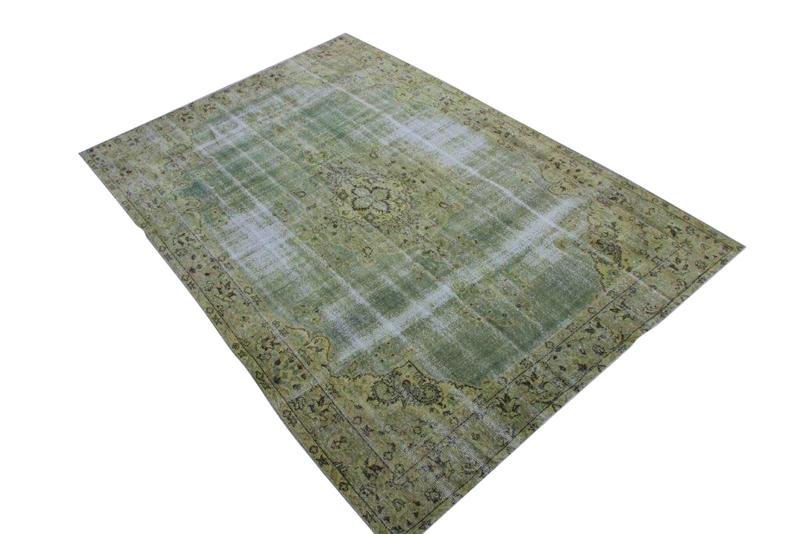 Groen vintage vloerkleed nr 1264 (266cm x 184cm)