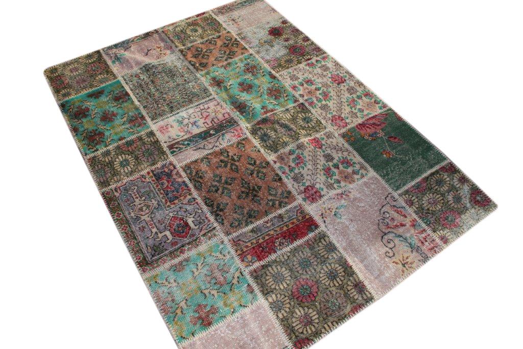 Patchwork vloerkleed, diverse kleuren, 240cm x 170cm