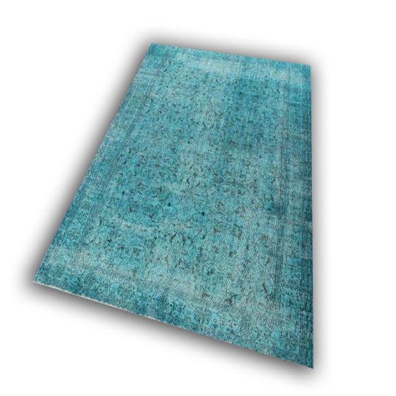 Lichtblauw vloerkleed 129 (287cm x 215cm)