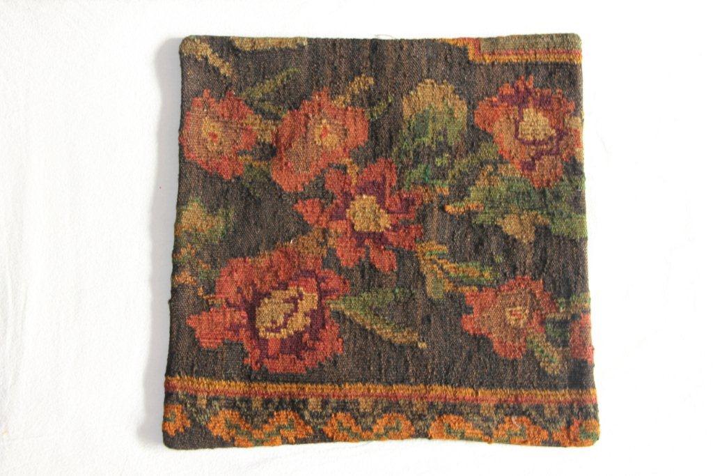 Rozenkelim kussen nr 13004     (45 cm x 45 cm) Kussen gemaakt van authentieke rozenkelim, inclusief binnenkussen