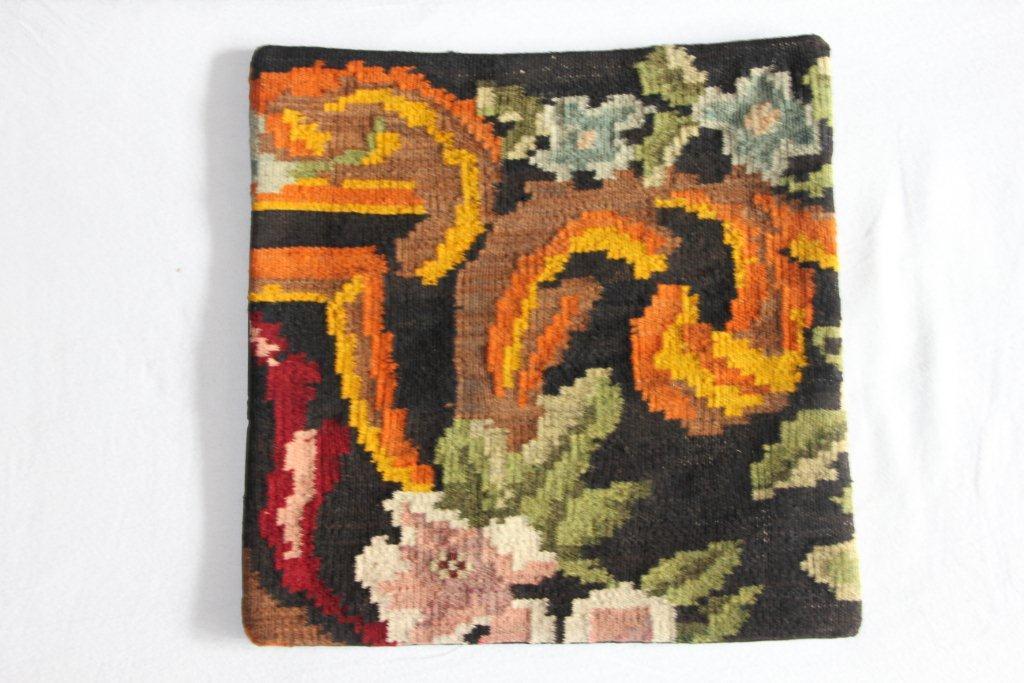 Rozenkelim kussen nr 13007     (45 cm x 45 cm) Kussen gemaakt van authentieke rozenkelim, inclusief binnenkussen