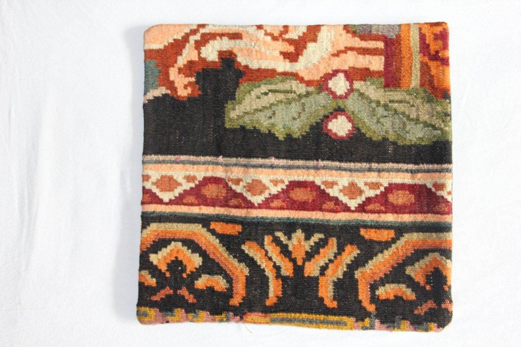 Rozenkelim kussen nr 13008     (45 cm x 45 cm) Kussen gemaakt van authentieke rozenkelim, inclusief binnenkussen