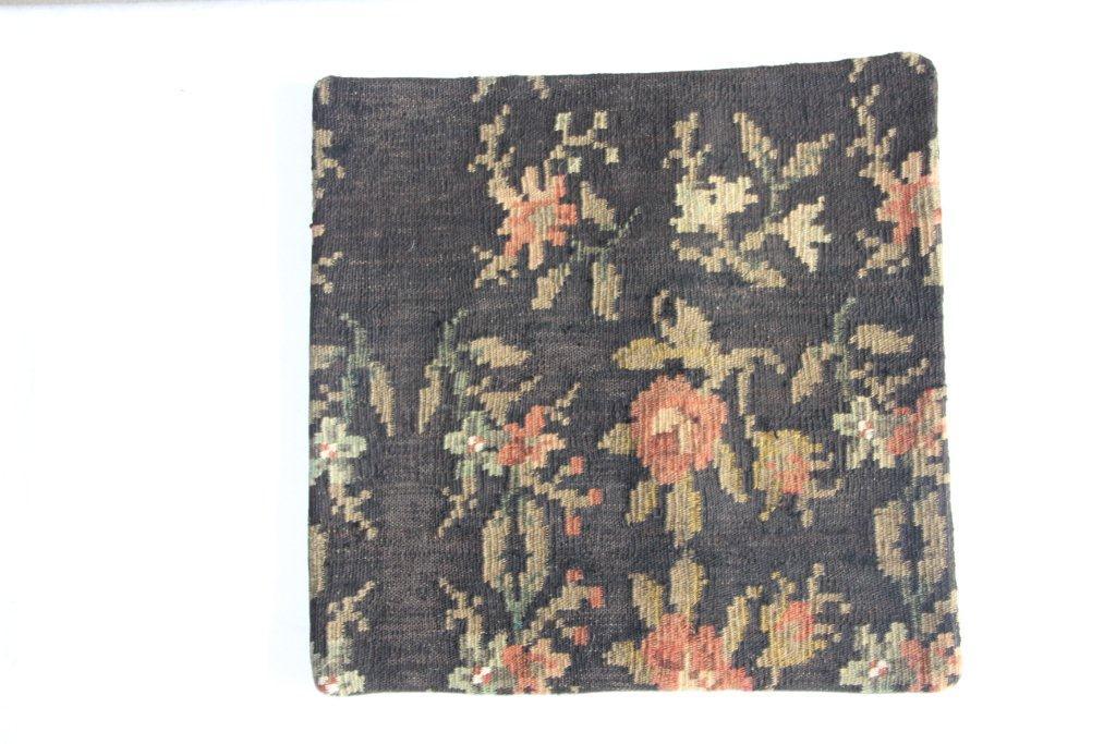Rozenkelim kussen nr 13009     (45 cm x 45 cm) Kussen gemaakt van authentieke rozenkelim, inclusief binnenkussen