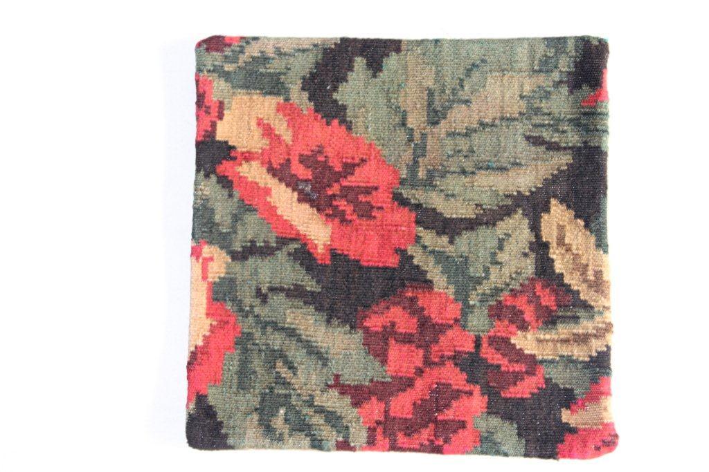 Rozenkelim kussen nr 13010     (45 cm x 45 cm) Kussen gemaakt van authentieke rozenkelim, inclusief binnenkussen