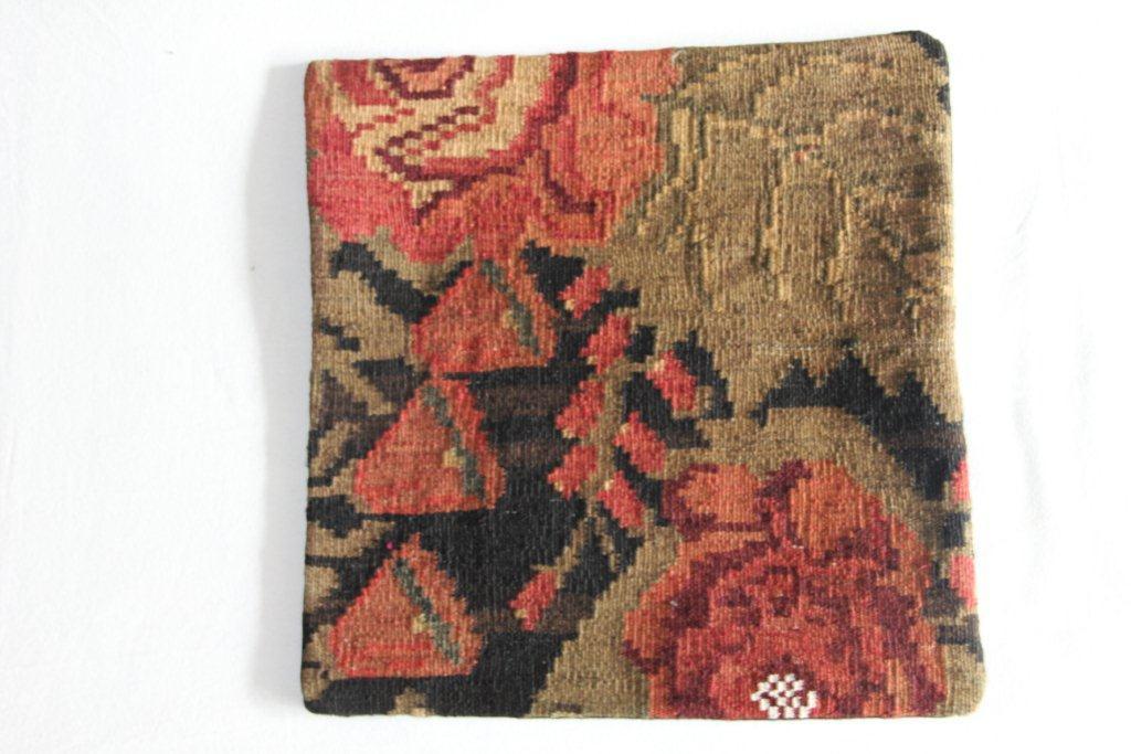 Rozenkelim kussen nr 13013     (45 cm x 45 cm) Kussen gemaakt van authentieke rozenkelim, inclusief binnenkussen