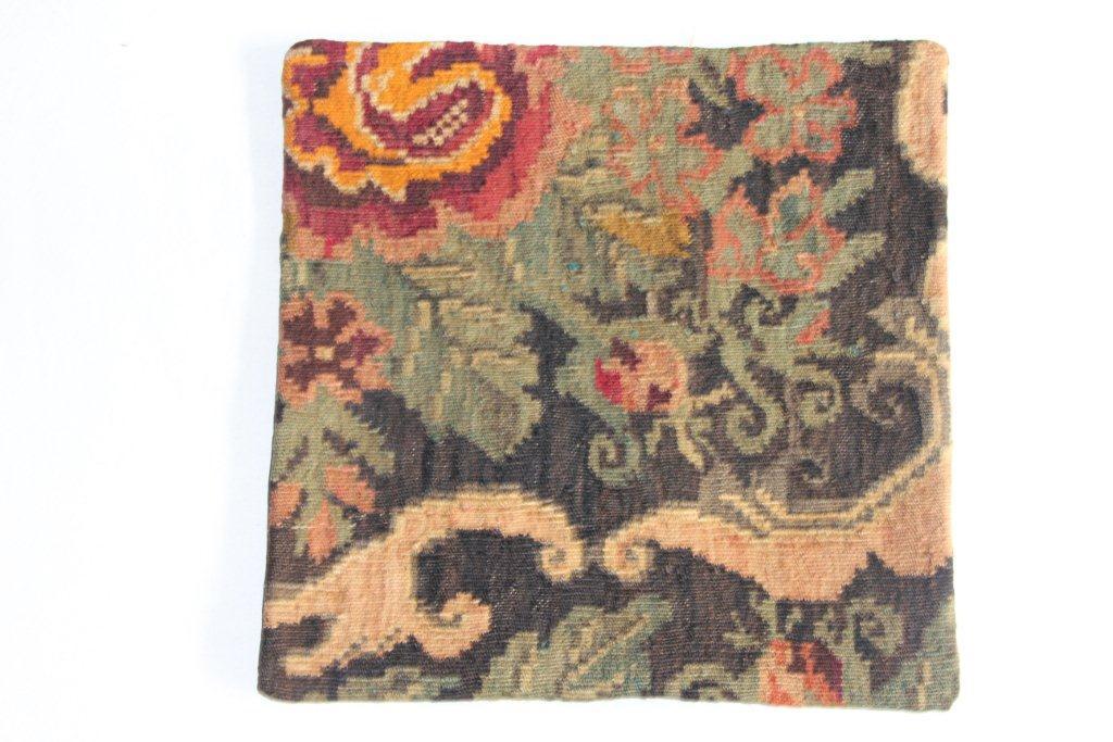 Rozenkelim kussen nr 13014     (45 cm x 45 cm) Kussen gemaakt van authentieke rozenkelim, inclusief binnenkussen