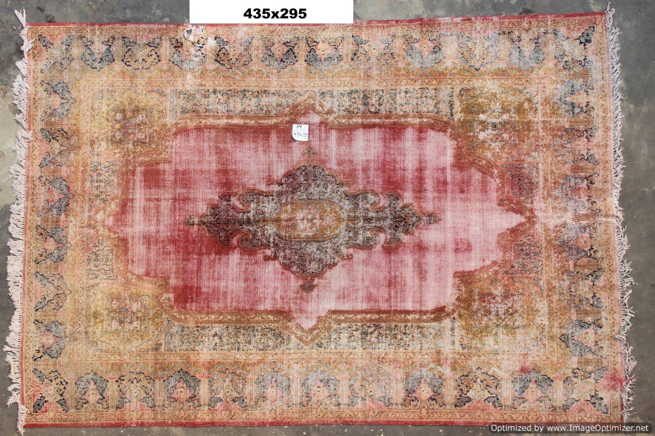 Vintage recoloured perzisch tapijt 14B (435cm x 295cm)
