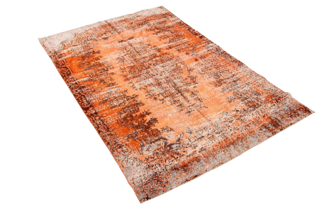 Oranje Vintage recoloured vloerkleed 426 (271ccm x 177cm) SILO 6 Gereserveerd!