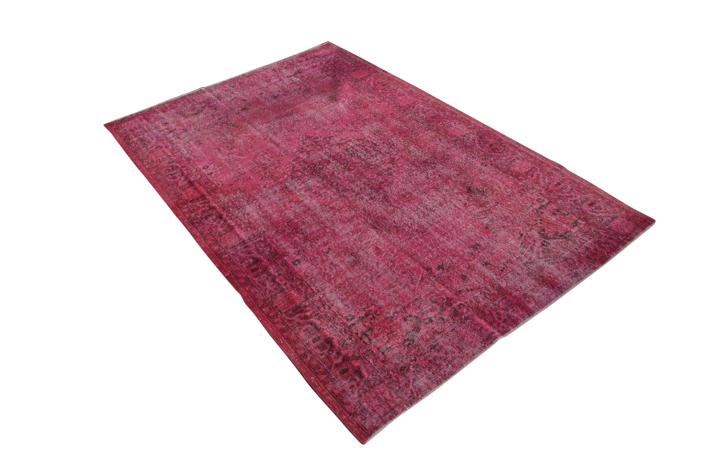 Recoloured klassiek vloerkleed nr 145  ( 268cm x 174cm) tapijt wat een nieuwe hippe trendy kleur heeft gekregen.
