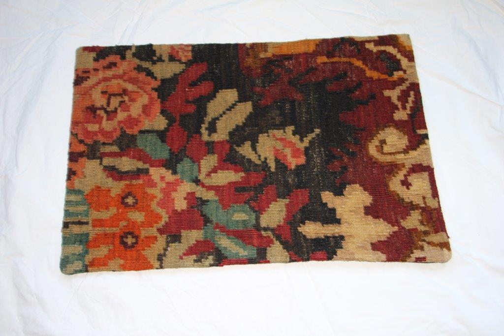 Kelim kussen  60cm x 40cm, handgeweven uit Moldavië, no 1568 wordt geleverd incl. binnenkussen
