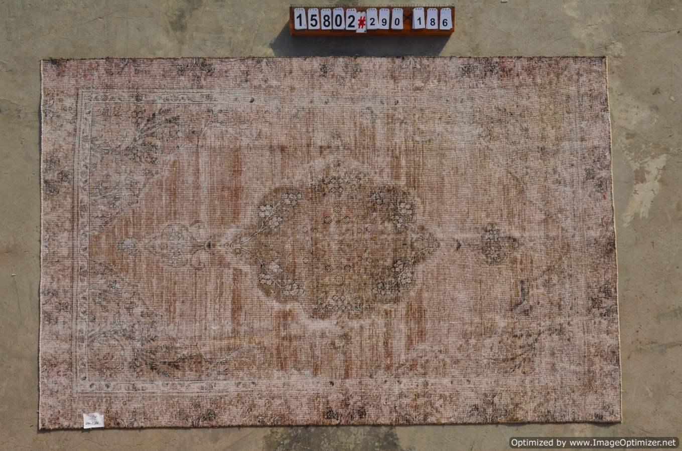 Recoloured klassiek vloerkleed nr 15802 (290cm x 186cm)  Gereserveerd!!