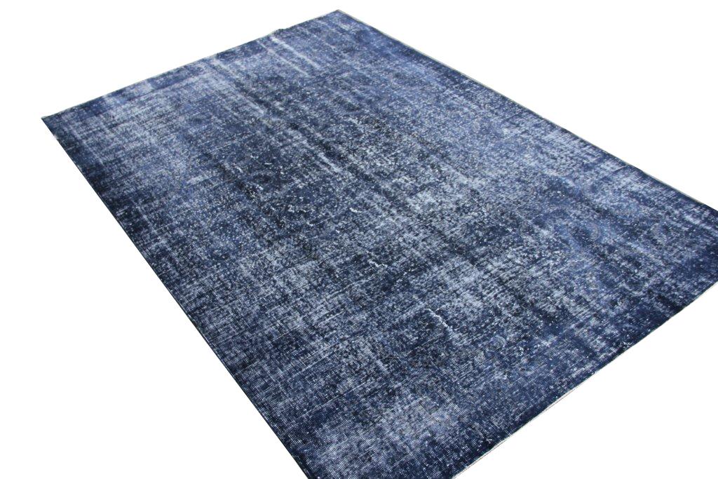 Donker blauw vloerkleed no 1618 (307cm x 210cm) vloerkleed wat een nieuwe hippe trendy kleur heeft gekregen.