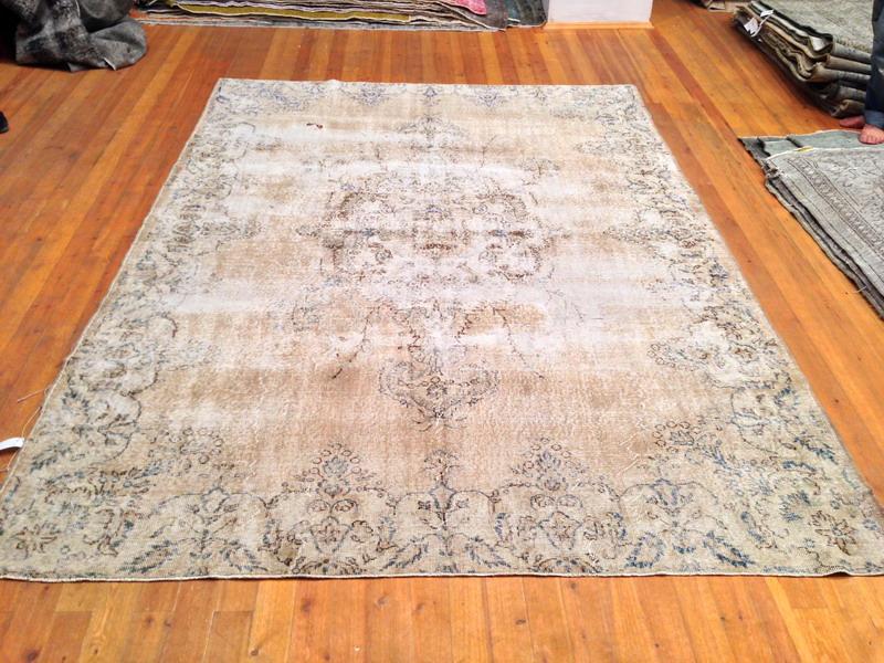 Licht vintage vloerkleed 292cm x 211cm, no 1633