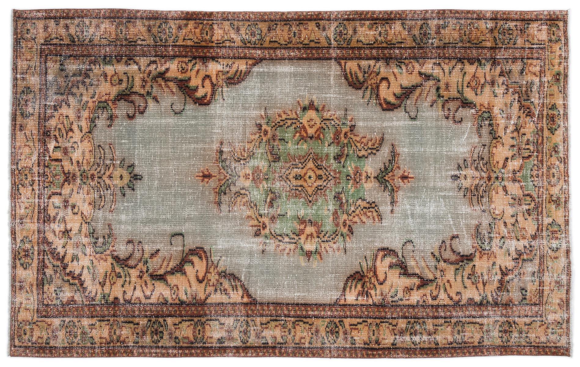 Vintage vloerkleed met groen 16387 256cm x 161cm