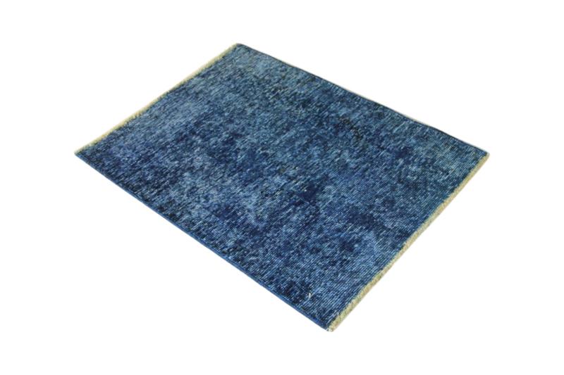 Klein blauw vloerkleedje, 80cm x 60cm