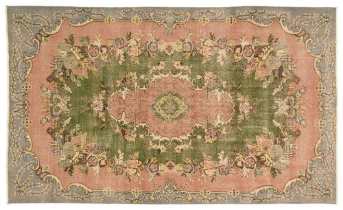 vintage vloerkleed roze groen 16875 280cm x 167cm