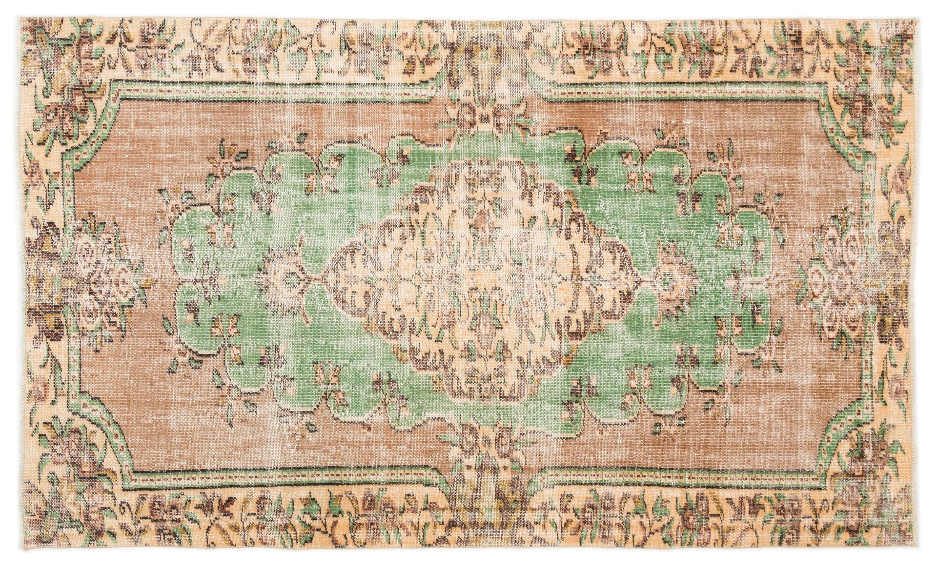 Vintage vloerkleed met groen 7768 274cm x 182cm