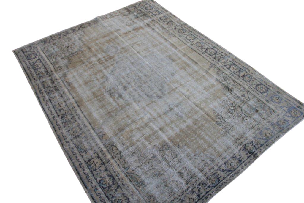 Recolored gebleekt vintage vloerkleed  uit Turkije 289cm x 220cm, no 1734