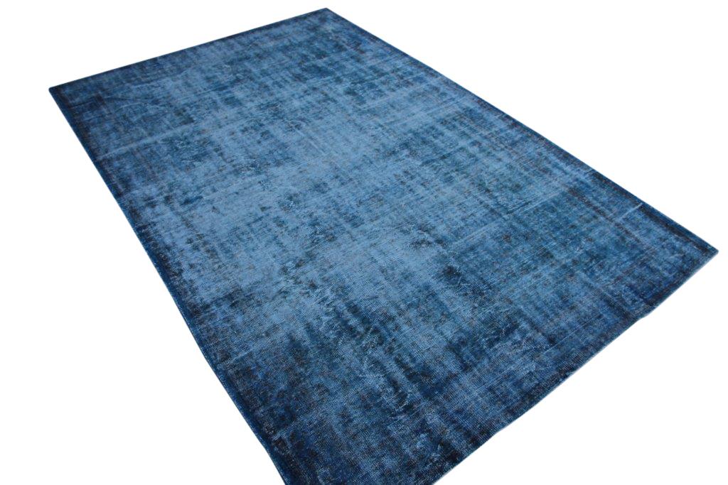 NIEUW BINNEN Recoloured blauw vintage vloerkleed  uit Turkije 340cm x 227cm, no 174