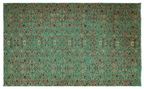 vintage vloerkleed groen 17929 264cm x 162cm