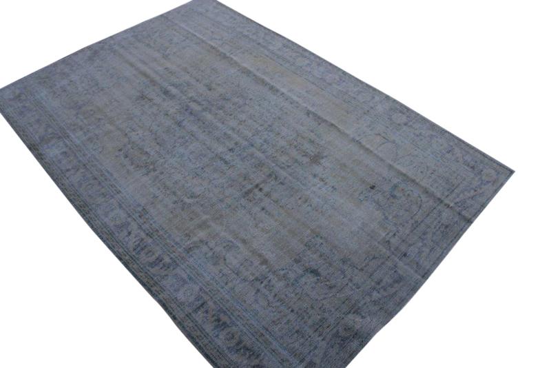 Vintage vloerkleed met blauw 289cm x 197cm